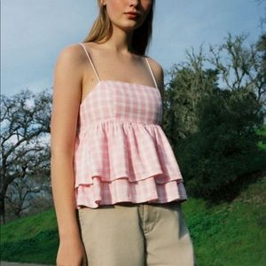 Urban Outfitters Ruffle Babydoll Top